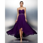 Australia Formal Evening Dress Grape Plus Sizes Dresses Petite A-line Sweetheart Asymmetrical Chiffon Formal Dress Australia