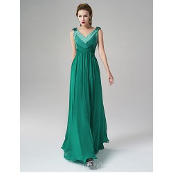 Australia Formal Dress Evening Gowns Dark Green A Line V Neck Long Floor Length Satin