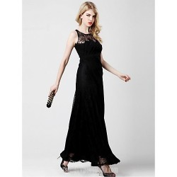Australia Formal Evening Dress Black A-line Scoop Ankle-length Chiffon