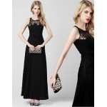 Australia Formal Dress Evening Gowns Black A-line Scoop Ankle-length Chiffon Formal Dress Australia