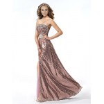 Australia Formal Dress Evening Gowns Candy Pink A-line Strapless Long Floor-length Sequined Formal Dress Australia