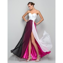 Australia Formal Evening Dress Military Ball Dress Multi-color Plus Sizes Dresses Petite A-line Princess Sweetheart Long Floor-length Chiffon