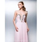 Australia Formal Dress Evening Gowns Blushing Pink Plus Sizes Dresses Petite A-line Princess Sweetheart Court Train Georgette Formal Dress Australia