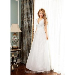 Australia Formal Dress Evening Gowns Ivory Ball Gown V Neck Long Floor Length Chiffon