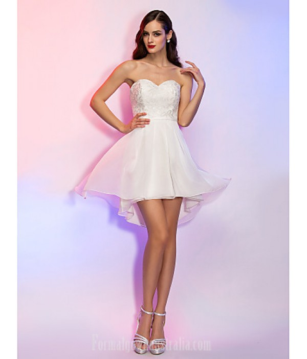 Australia Formal Dresses Cocktail Dress Party Dress Holiday Graduation Dress Ivory Plus Sizes Dresses Petite A-line Princess Strapless Sweetheart Asymmetrical Formal Dress Australia