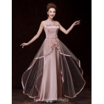 Australia Formal Dress Evening Gowns Champagne A-line Bateau Long Floor-length Satin Formal Dress Australia