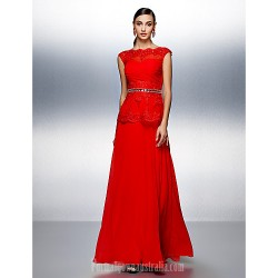 Dress Ruby Plus Sizes Dresses Petite A-line Bateau Long Floor-length Chiffon
