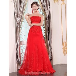 Australia Formal Dress Evening Gowns Ruby Plus Sizes Dresses A Line Strapless Long Floor Length Tulle Dress