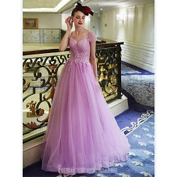 Australia Formal Dress Evening Gowns Lavender A-line Sweetheart Long Floor-length Tulle Dress