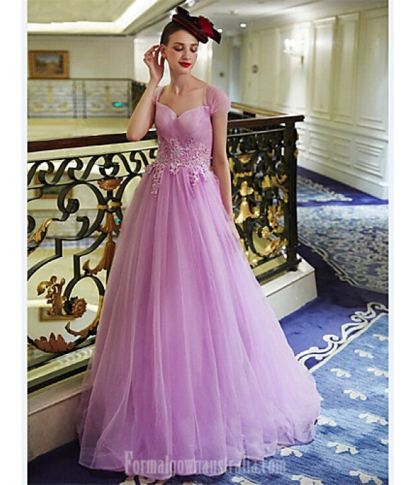 Australia Formal Dress Evening Gowns Lavender A-line Sweetheart Long Floor-length Tulle Dress Formal Dress Australia