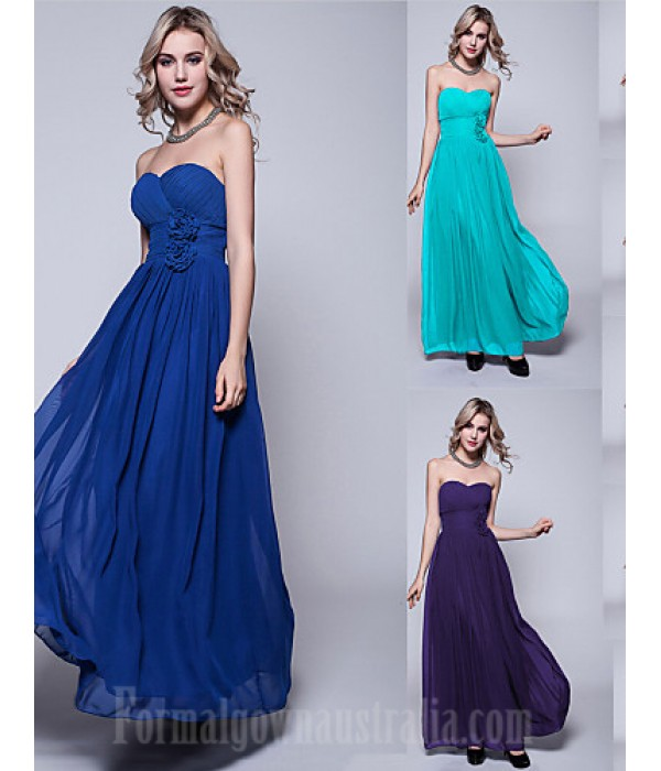 Long Floor-length Chiffon Bridesmaid Dress Ink Blue Pool Regency Black Burgundy Ruby Fuchsia Silver Jade Royal Blue Formal Dress Australia