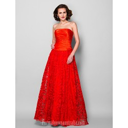 A Line Plus Sizes Dresses Petite Mother Of The Bride Dress Ruby Long Floor Length Sleeveless Lace Stretch Satin