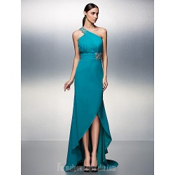 Australia Formal Dress Evening Gowns Jade Plus Sizes Dresses Petite A-line Sexy One Shoulder Asymmetrical Chiffon