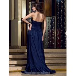 Australia Formal Dress Evening Gowns Dark Navy Plus Sizes Dresses Petite A-line Strapless Long Floor-length Taffeta Formal Dress Australia