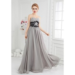Australia Formal Evening Dress Silver Ball Gown Sweetheart Long Floor-length Chiffon