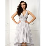 Homecoming Australia Formal Dresses Cocktail Dress Party Dress Prom Dress Ball Gown V-neck Asymmetrical Taffeta Formal Dress Australia