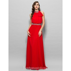 Prom Gowns Military Ball Australia Formal Dress Evening Gowns Ruby Plus Sizes Dresses Petite A-line High Neck Long Floor-length Chiffon