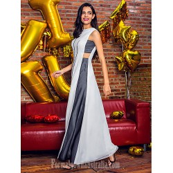 Australia Formal Dress Evening Gowns Multi-color A-line Jewel Ankle-length Chiffon