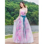 Australia Formal Dress Evening Gowns Blushing Pink Ball Gown Strapless Long Floor-length Tulle Dress Charmeuse Formal Dress Australia