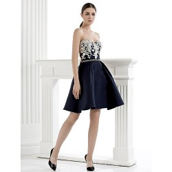 Homecoming  Australia Formal Dresses Cocktail Dress Party Dress A-line Sweetheart Short Knee-length Satin