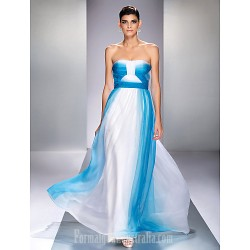 Australia Formal Dress Evening Gowns Prom Gowns Military Ball Dress Ocean Blue Plus Sizes Dresses Petite A Line Strapless Long Floor Length Chiffon