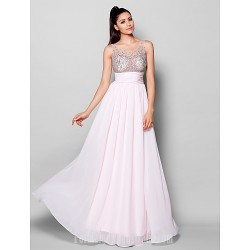 Australia Formal Dress Evening Gowns Blushing Pink Plus Sizes Dresses Petite A-line Scoop Long Floor-length Chiffon