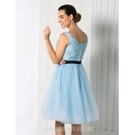 Australia Formal Dresses Cocktail Dress Party Dress Homecoming Holiday Prom Dress Sky Blue Plus Sizes Dresses Petite Ball Gown Jewel Short Knee-length Chiffon Tulle Formal Dress Australia