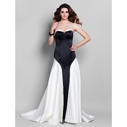 Australia Formal Dress Evening Gowns Multi-color Plus Sizes Dresses Petite A-line Sweetheart Court Train Satin