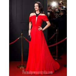 Australia Formal Dress Evening Dress Ruby A Line Jewel Long Floor Length Chiffon