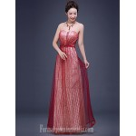 Australia Formal Dress Evening Gowns Burgundy A-line Sweetheart Long Floor-length Tulle Dress Sequined Formal Dress Australia