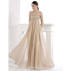 Australia Formal Dress Evening Gowns Champagne Plus Sizes Dresses Petite A-line Sweetheart Long Floor-length Chiffon Spandex