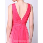 Australia Formal Dress Evening Gowns Multi-color A-line V-neck Ankle-length Chiffon Formal Dress Australia