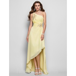 Prom Gowns Australia Formal Dress Evening Gowns Daffodil Plus Sizes Dresses Petite A-line Princess Sexy One Shoulder Asymmetrical Chiffon