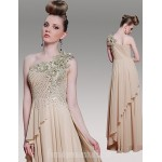 Australia Formal Dress Evening Gowns Champagne Plus Sizes Dresses A-line Princess Sexy One Shoulder Long Floor-length Formal Dress Australia
