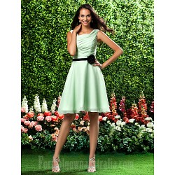 Short Knee Length Chiffon Bridesmaid Dress Sage Plus Sizes Dresses Petite A Line Princess Square