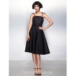 Australia Formal Dresses Cocktail Dress Party Dress Black A-line Spaghetti Straps Short Knee-length Taffeta Formal Dress Australia