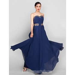 Australia Formal Dress Evening Gowns Military Ball Dress Dark Navy Plus Sizes Dresses Petite A Line Sweetheart Ankle Length Georgette