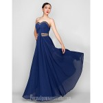 Australia Formal Dress Evening Gowns Military Ball Dress Dark Navy Plus Sizes Dresses Petite A-line Sweetheart Ankle-length Georgette Formal Dress Australia