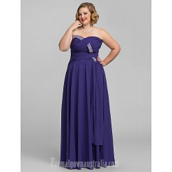 Australia Formal Dress Evening Gowns Prom Gowns Military Ball Dress Regency Plus Sizes Dresses Petite A-line Sweetheart Strapless Long Floor-length Chiffon