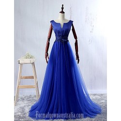 Dress Pool Ball Gown V-neck Long Floor-length Lace Dress Satin Tulle