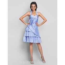 Australia Formal Dresses Cocktail Dress Party Dress Homecoming Prom Gowns Sweet 16 Dress Lavender Plus Sizes Dresses Petite A-line Halter Sweetheart Short Knee-length Taffeta