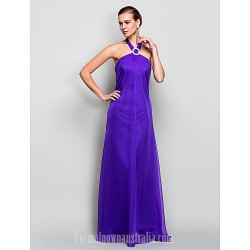 Australia Formal Evening Dress Military Ball Dress Regency Plus Sizes Dresses Petite A-line Halter Long Floor-length Chiffon