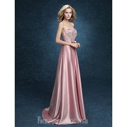 Australia Formal Dress Evening Gowns Blushing Pink Plus Sizes Dresses A Line Sweetheart Long Floor Length Stretch Satin