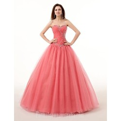 Ball Gown Sweetheart Long Floor-length Organza Wedding Dress