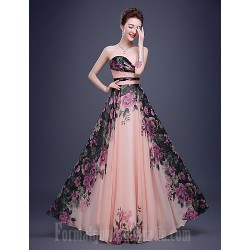 Australia Formal Dresses Cocktail Dress PartyAustralia FormalEveningBlackTie GalaCompanyPartyFamilyGatheringDress-Pearl Pink A-lineV-neck Long Floor-lengthChiffon