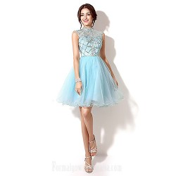 Australia Formal Dresses Cocktail Dress Party Dress Pool Plus Sizes Dresses Petite A Line High Neck Short Knee Length