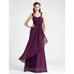 Long Floor Length Chiffon Bridesmaid Dress Ruby Grape Royal Blue Champagne Plus Sizes Dresses Petite A Line Princess Straps Sweetheart