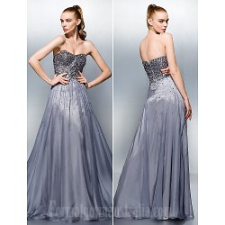Dress Silver Plus Sizes Dresses Petite A Line Sweetheart Long Floor Length Tencel