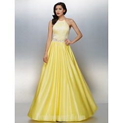 Dress Daffodil Plus Sizes Dresses Petite A-line Halter Long Floor-length Chiffon