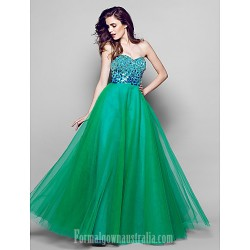 Australia Formal Evening Dress Multi-color A-line Sweetheart Long Floor-length Organza